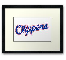 L A Clippers Framed Print