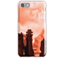 chess pieces isolated against red sky iPhone Case/Skin
