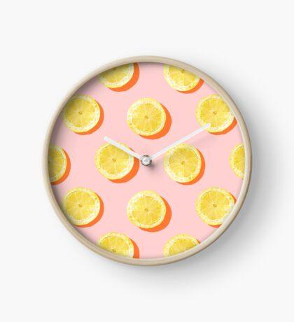 Sliced Lemon Clock