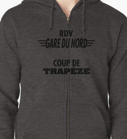 Rdv Gare du Nord Coupe de Trapèze- Segpa Army Zipped Hoodie