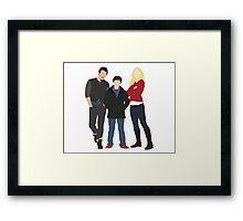 Swanfire Family Framed Print