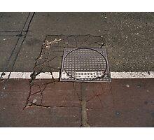 Life on the edge: craquelure Photographic Print