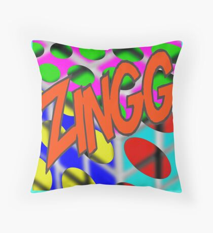 Zingg  - Pop Culture by American Jank Brand Throw Pillow
