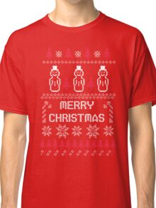 MERRY CHRISTMAS SNOWMAN SWEATER KNITTED PATTERN Classic T-Shirt