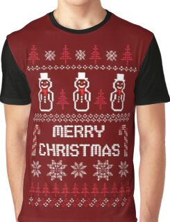 MERRY CHRISTMAS SNOWMAN SWEATER KNITTED PATTERN Graphic T-Shirt