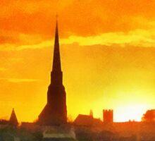 Wexford Town, Ireland at Sunset Sticker