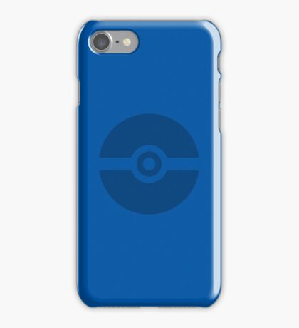 Pokeball Blue iPhone Case/Skin