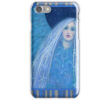 """Metelitsa"", Snow Maiden, Snegurochka, fantasy art, winter &  New Year iPhone Case/Skin"