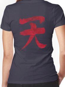 Akuma Kanji - Blood Edition Women's Fitted V-Neck T-Shirt