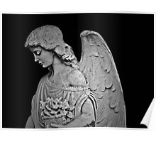 Black and White Angel Poster