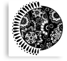Original Sun and Moon  Canvas Print