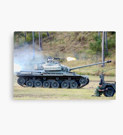 Centurion Tank firing .50 caliber machine gun Canvas Print