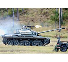 Centurion Tank firing .50 caliber machine gun Photographic Print