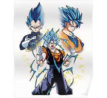 Goku and Vegeta fusion Poster