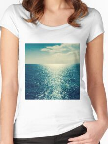 Sea sunset Women's Fitted Scoop T-Shirt