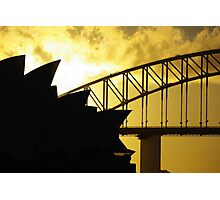Sydney Opera House and Harbour Bridge-Alternate 2 Photographic Print