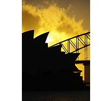 Sydney Opera House and Harbour Bridge-Alternate 1 Photographic Print