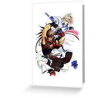 Guilty Gear - Sol & Ky Greeting Card