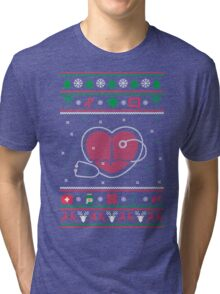 Doctor Ugly Christmas Sweater Tri-blend T-Shirt