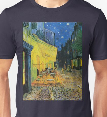 Vincent van Gogh Cafe Terrace at Night Unisex T-Shirt