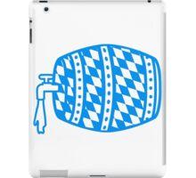 blau weiss flagge hahn oktoberfest bier saufen trinken alkohol fass bayern party feiern text shirt cool design  iPad Case/Skin