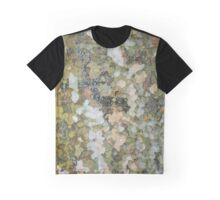 natural green forest tree bark texture camouflage adventure pattern Graphic T-Shirt