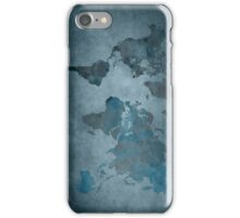 World map blue iPhone Case/Skin