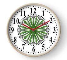 Harmonious Two Tone Gray Flowers Clock