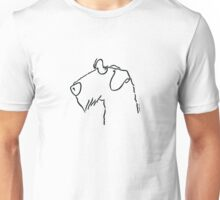 Airedale Terrier Silhouette Umriss Unisex T-Shirt