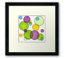 Keep Your Bubbles Traditional and Rough Framed Print