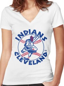 indians Women's Fitted V-Neck T-Shirt