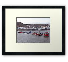 Staithes boats Framed Print