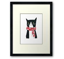 Cat With A Scarf Framed Print