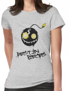Rest in pieces Womens Fitted T-Shirt