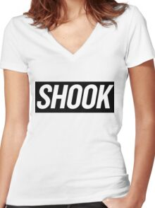 Shook 3 Women's Fitted V-Neck T-Shirt