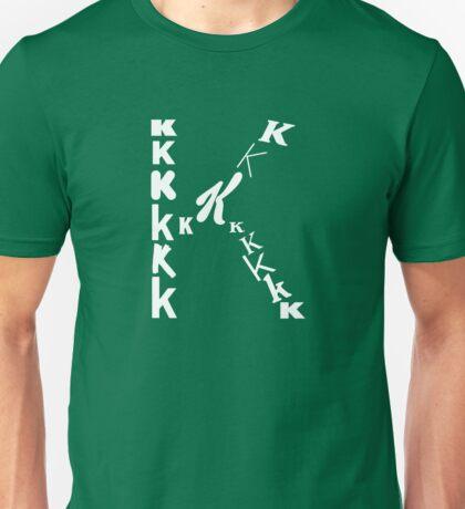 Found Letters - K Unisex T-Shirt