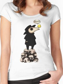 Plague Doctor Women's Fitted Scoop T-Shirt