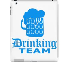 bierkrug drinking team freunde team crew riesig groß durst logo bier krug saufen trinken party feiern spaßtrinken alkohol symbol cool shirt oktoberfest  iPad Case/Skin