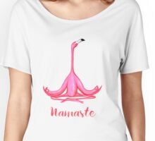 Yoga tank top with meditating flamingo yogi and namaste Women's Relaxed Fit T-Shirt