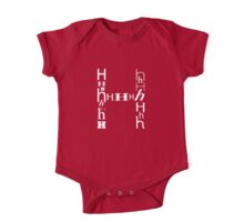 Found Letters - H One Piece - Short Sleeve