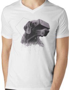 Virtual Reality Dog Mens V-Neck T-Shirt