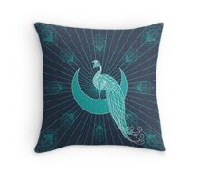 Peafowl On The Moon Throw Pillow