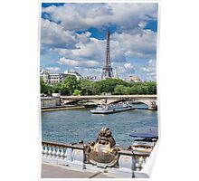Ferry on the Seine, Paris, France Poster