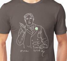 Oscar Wilde stencil (white) Unisex T-Shirt