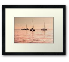 Recreational Yachts at the Indian Ocean Framed Print