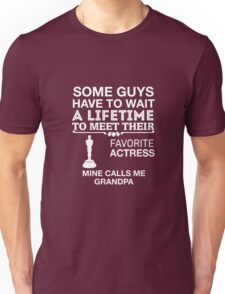 My Favorite Actress Calls Me Grandpa Unisex T-Shirt