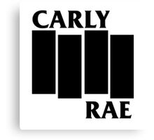 Carly Rae Black Flag Canvas Print