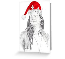 David Tennant as Richard II festive!  Greeting Card