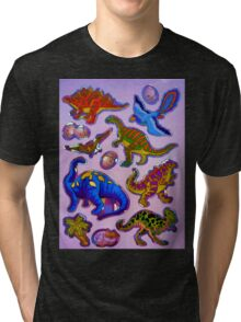 Several colorful dinosaurs Tri-blend T-Shirt