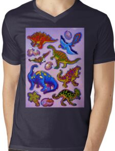 Several colorful dinosaurs Mens V-Neck T-Shirt